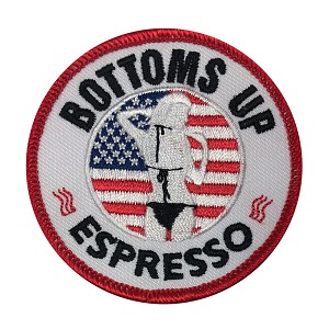 Bottoms Up Logo Patch Patriotic